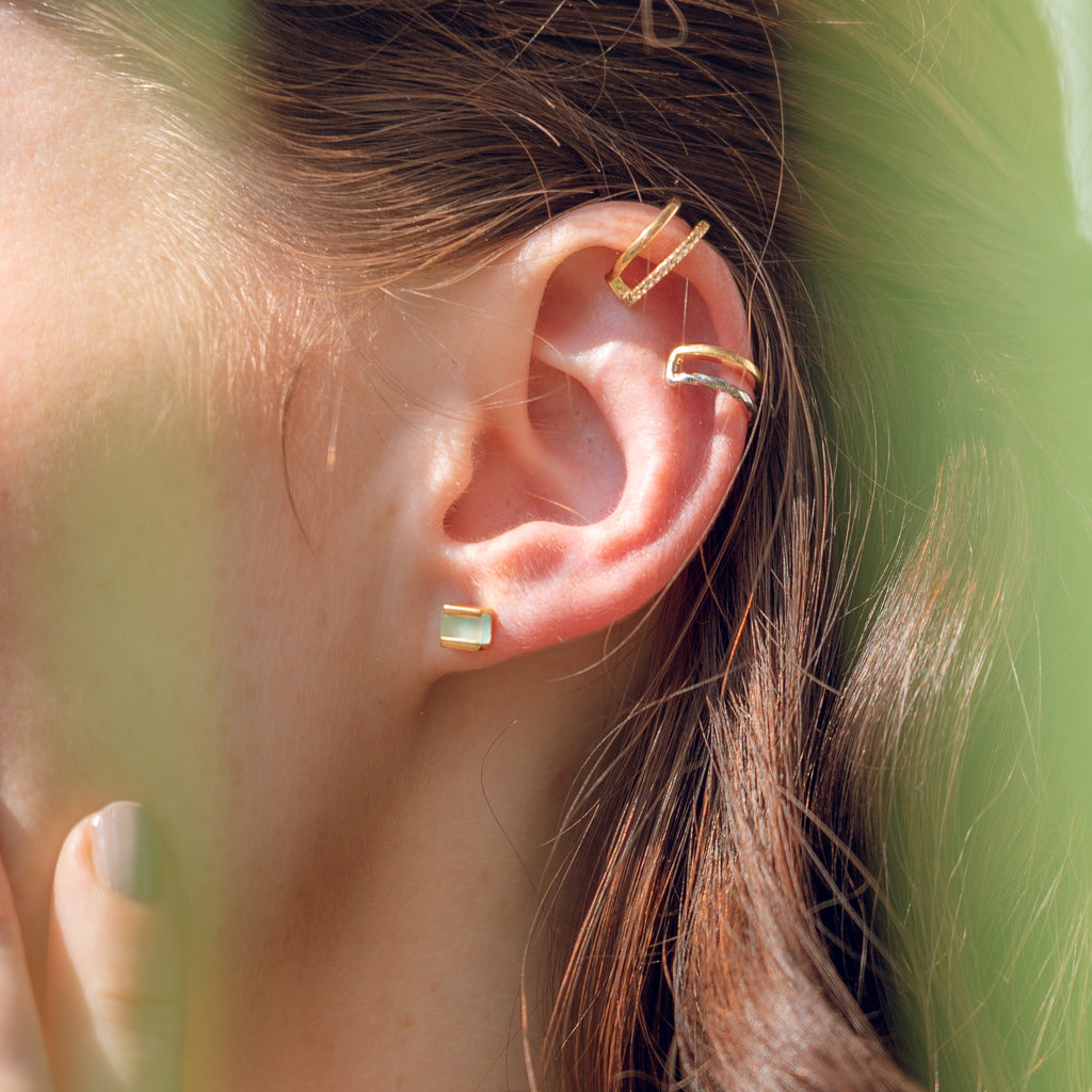 ear cuff gold vermeil handmade jewellery earring neola design