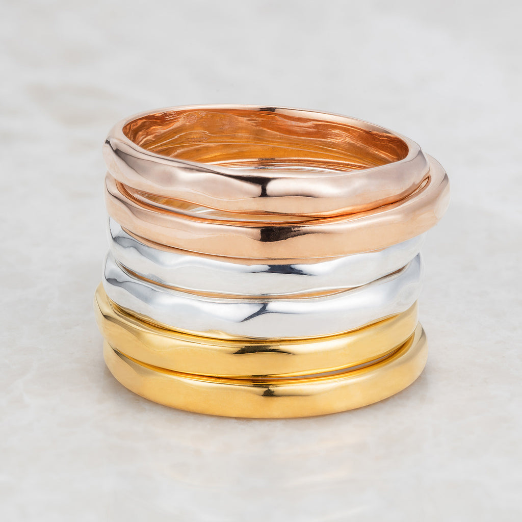 Gold Eternity Stacking Ring