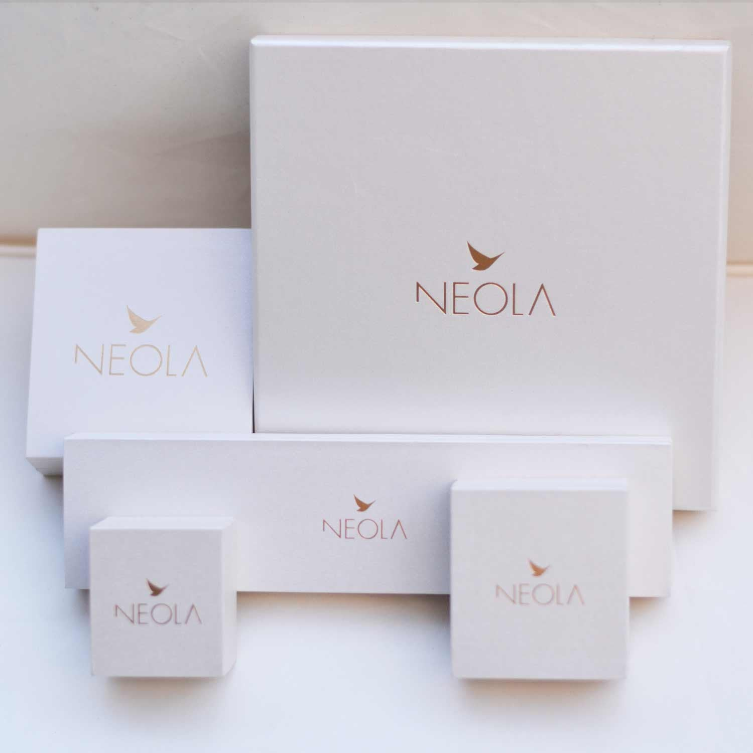 Rose Gold Necklace Cubes | Neola Design
