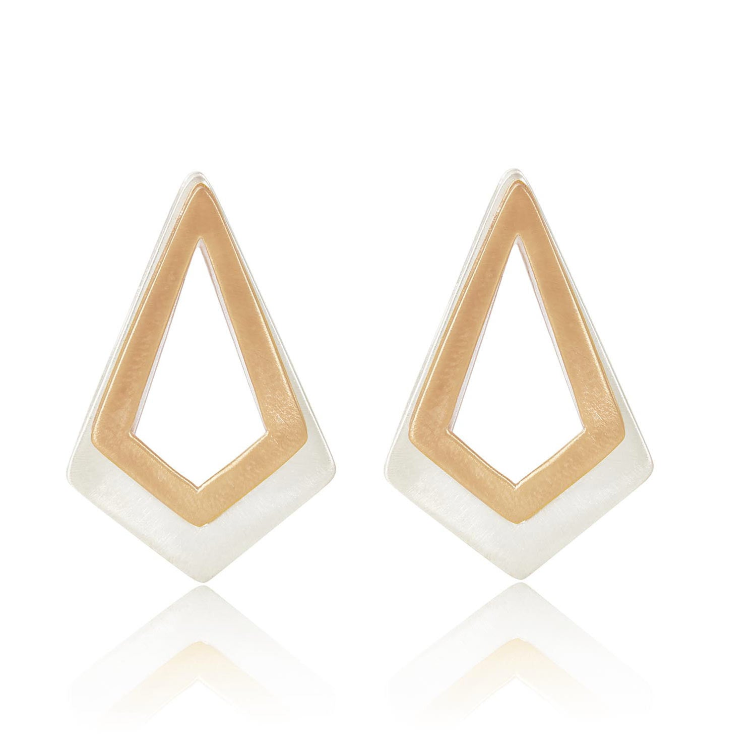 7197d50d8 Serenity Rose Gold and Sterling Silver Earrings | Neola Design