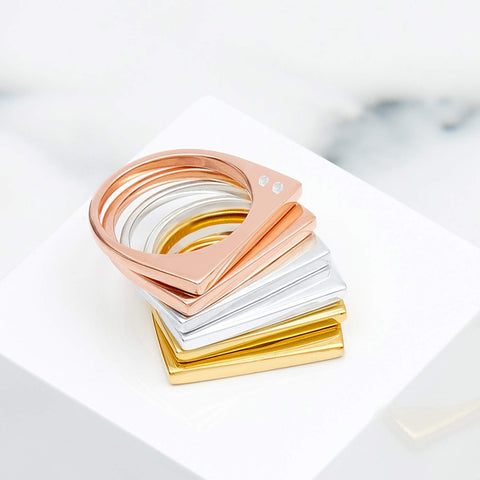 Minerva Gold Stacking Ring
