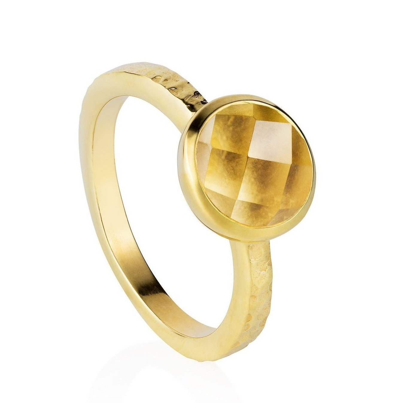 Estella Gold Stacking Ring with Citrine