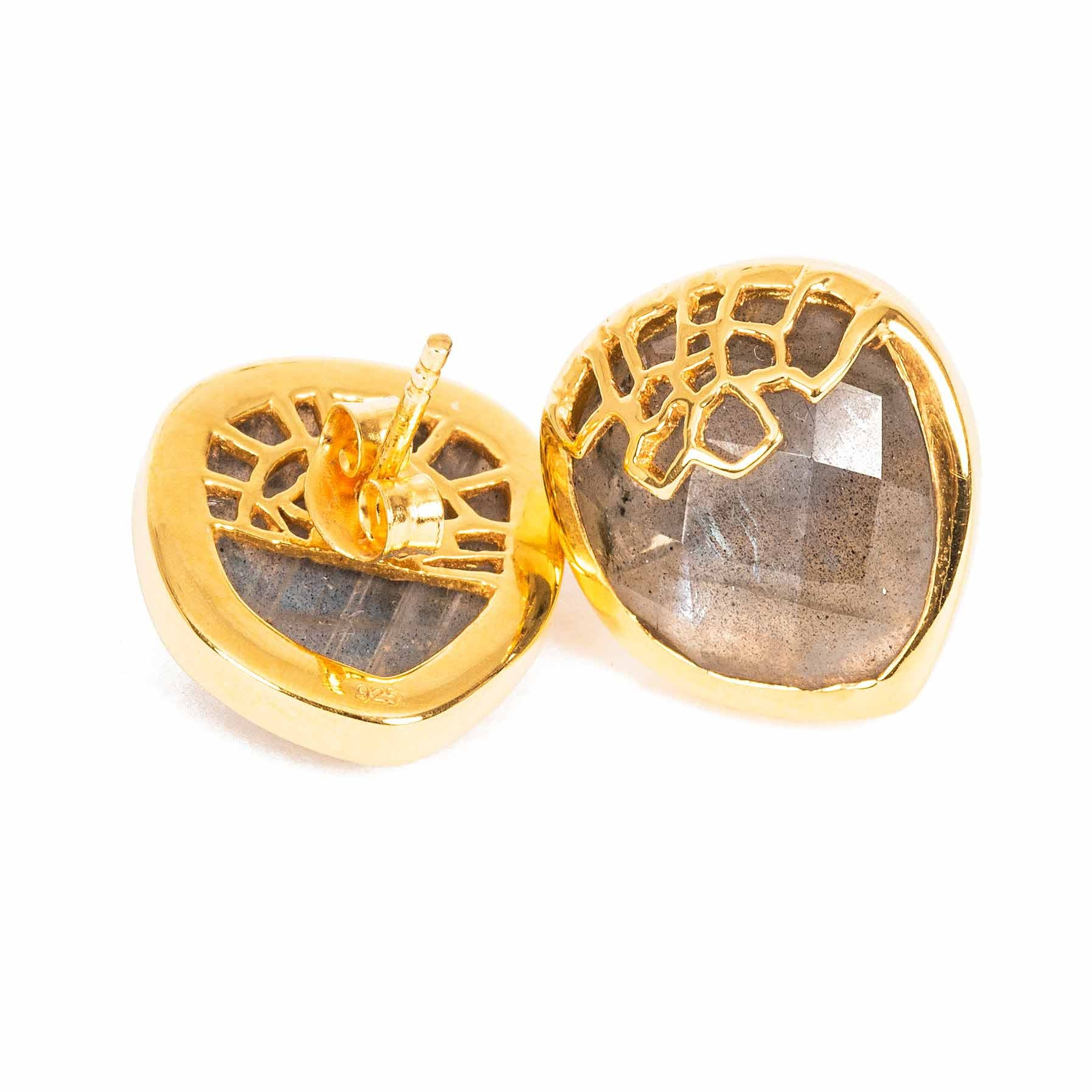 Honeycomb Gold Studs