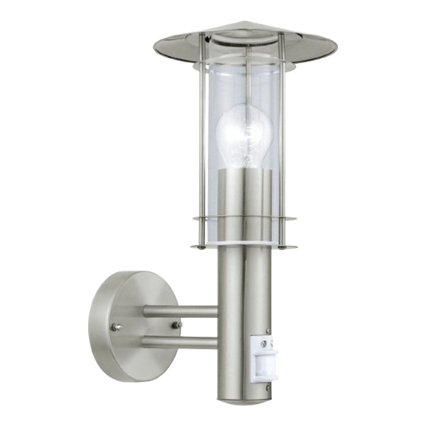 Houston 60W Outdoor Wall Light With PIR Sensor - Stainless Steel