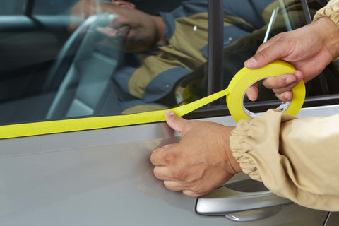 Indasa MTY Yellow Premium Masking Tape Application Image