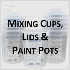 Paint Supplies - Mixing Cups, Paint Pots and Lids