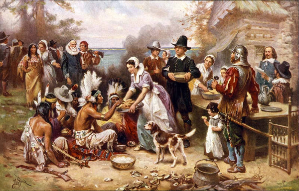 The First Thanksgiving 1621, by Jean Louis Gerome Ferris 1915