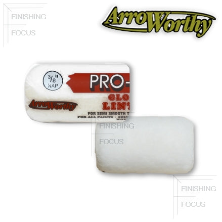 "ArroWorthy Pro-Line Glossdel 4 Inch Roller Covers, 3/8"" Nap, 4FGL3"