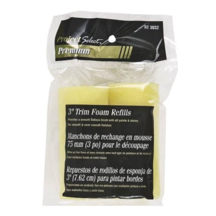 "Project Select 3"" Twin Yellow Foam Roller Cover Refill Pack, RT3082"