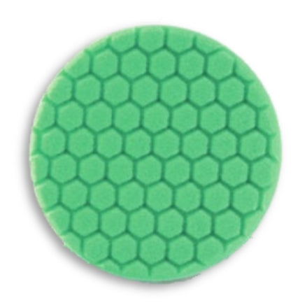 "Buff and Shine 7.5"" Center Ring Hex Face Foam, Green Polishing Pad, 640RH"