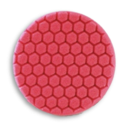 "Buff and Shine 7.5"" Center Ring Hex Face Euro Foam, Red Ultra Finishing Pad, 621RH"