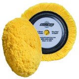 "Buff and Shine 7.5"" Center Ring Wool, Yellow Blend 4-Ply Twist, Medium Cut / Polishing Pad, 753RY"