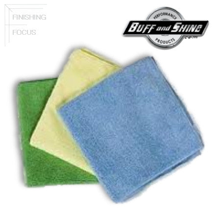 Buff and Shine Premium Microfiber Finishing Cloths, MF1B