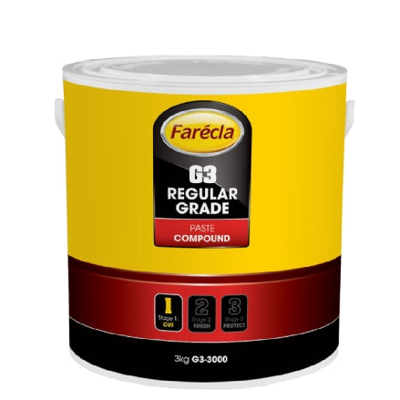 Farecla G3 Regular Grade Paste Compound, 3kg Tub, G3-3000