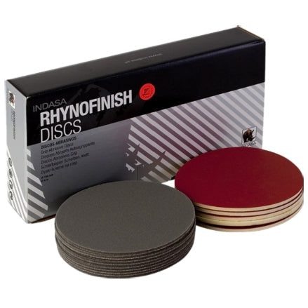 "Indasa 3"" Rynofinish Microfine Foam Finishing Discs, 320-3000"