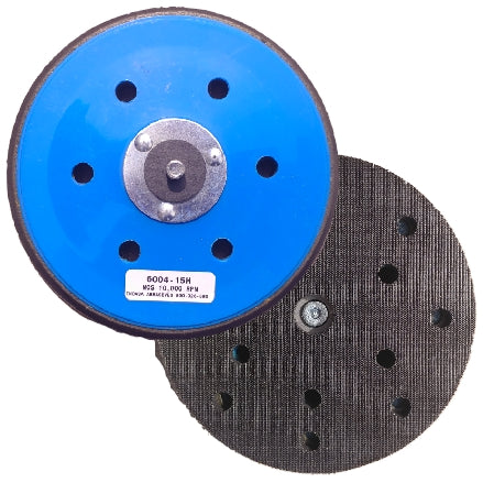 "Indasa 6"" 15-Hole Grip Backup Pad, 6004-15H"