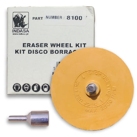 Indasa Eraser Wheel Kit, 8100, 1