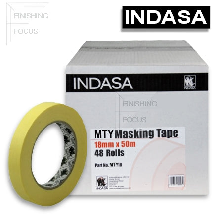 Indasa MTY Premium Yellow Masking Tape, 18mm, #556740