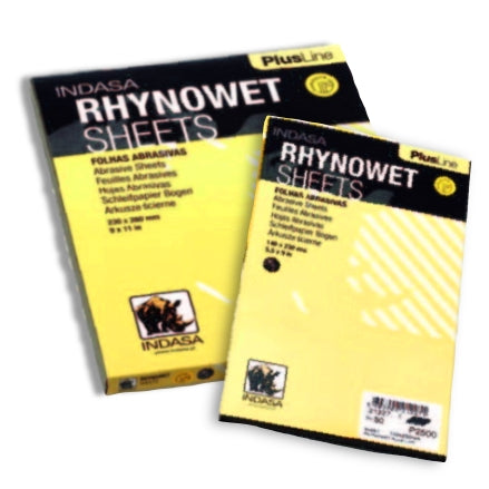Indasa PlusLine RhynoWet Wet and Dry Sanding Sheets, 1 & 2 Series