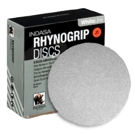 "Indasa 6"" Rhynogrip WhiteLine Solid Sanding Discs, 280 Grit, 61-280, Overstock"
