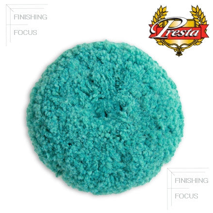 Presta Rotary Blended Wool Buffing Pad Blue Soft Polish Single-sided pad is 9/""