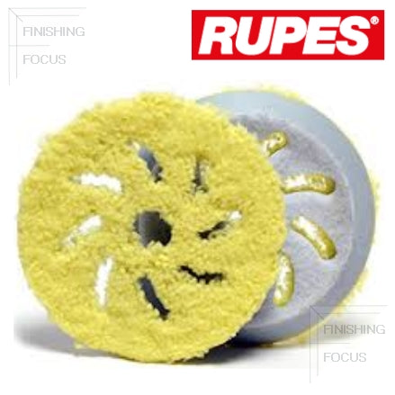 "RUPES 5"" to 5.75"" (130 mm to 145 mm) Angle Microfiber, Finishing Pad, 2-Pack, 9.BF150XM"