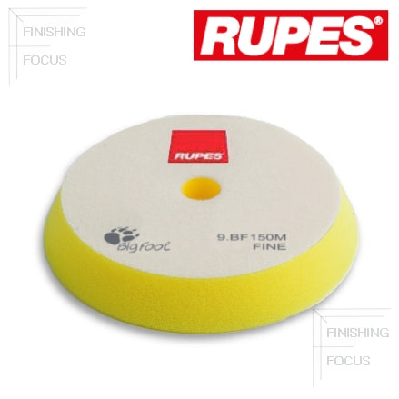 "RUPES 5"" to 6"" (130 mm to 150 mm) Angle Foam, Yellow Fine Pad, 9.BF150M"