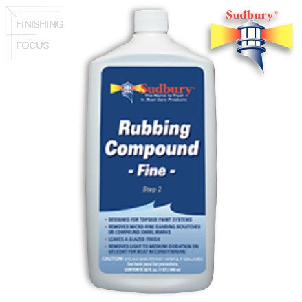 Sudbury Rubbing Compound, Fine, 32 oz (442-32)