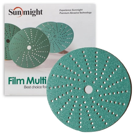 "Sunmight 6"" Film Multi-Hole Vacuum Grip Sanding Discs"