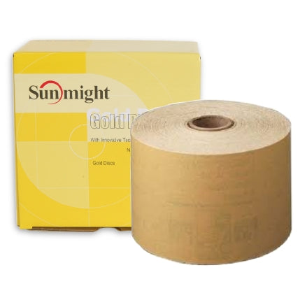 "Sunmight 2.75"" Gold PSA Sanding Sheet Roll Collection"