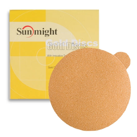 "Sunmight Gold 5"" PSA Solid Sanding Discs"