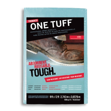 Trimaco One Tuff™ Coated Drop Cloth, 9' x 12', 90019