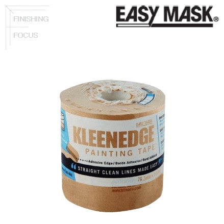 "Easy Mask KleenEdge 3"" Brown Paper Painter Tape with Single Edge Adhesive, 329400"