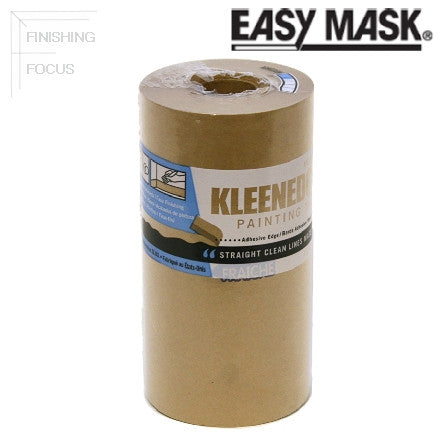"Easy Mask KleenEdge 6"" Brown Paper Painter Tape with Single Edge Adhesive, 329410"