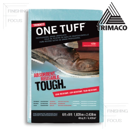 Trimaco One Tuff™ Coated Drop Cloth, 6' x 8', 90088