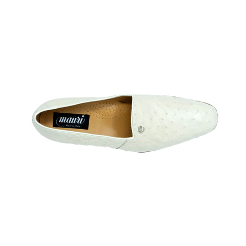 Mauri Ostrich Slip On - Winter White