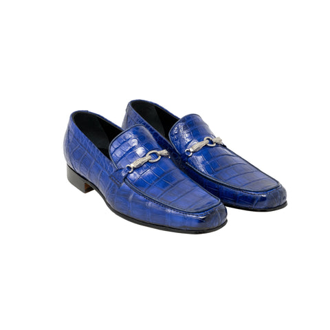 Mauri Baby Alligator Hand Painted Slip On - Royal Blue