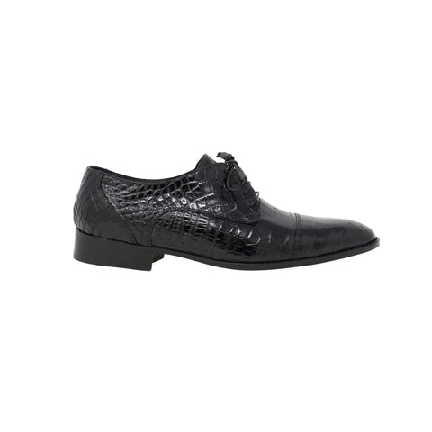 Mauri Baby Alligator Lace Up - Black