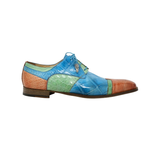 Mauri Body Alligator Hand Painted Lace-Up