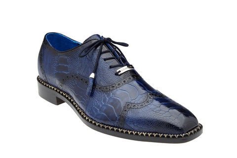 Ostrich Wing Tip Lace-Up