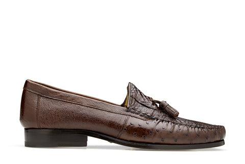 Caiman and Ostrich Loafer