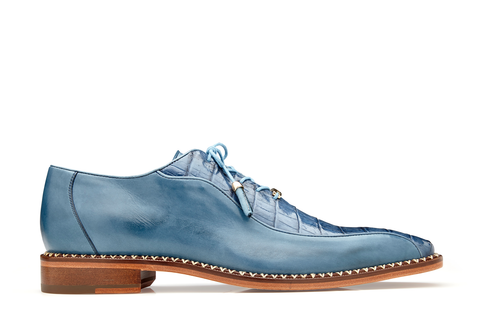 Caiman Lace-Up Dress Shoe - Antique Blue