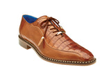 Caiman Lace-Up Dress Shoe - Brandy