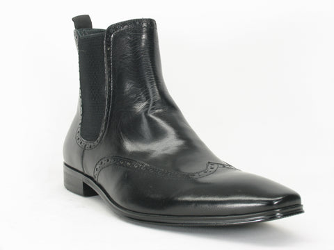 Carrucci Genuine Calf Skin Leather Boots - Black