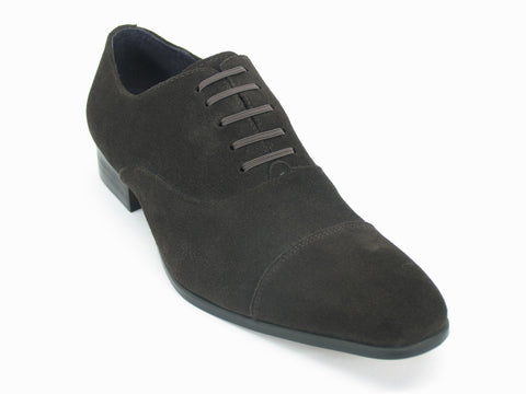 Carrucci Genuine Suede Leather Oxford Shoes - Brown