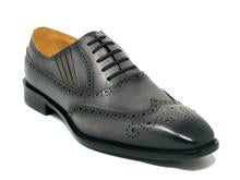 Carrucci Wingtip Slip On, Convertible to Lace-Up.