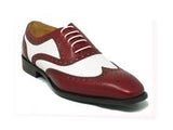 Carrucci Leather Two Tone Wingtip Oxford