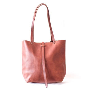 Ana Julia Tote - Dark Chocolate, Persimmon and Stone
