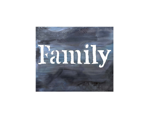 Metal Art Decor - Industrial Forged Patina - Family