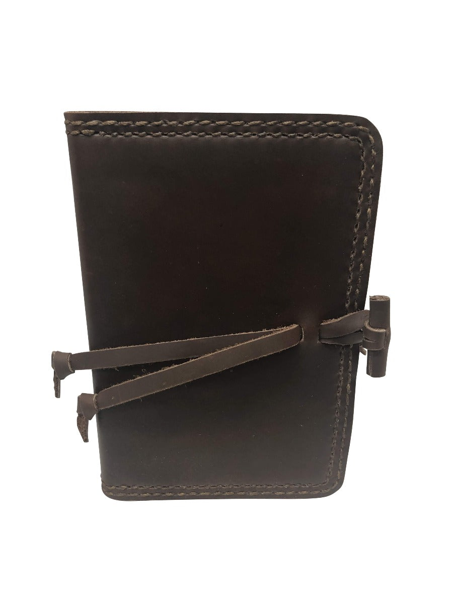 Leather Bound ESV Compact Bible - Dark Chocolate